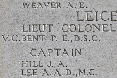 Tyne Cot Memorial, Bent VC.