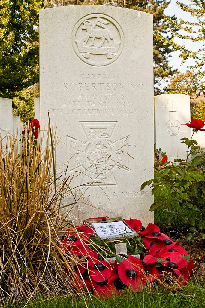 Oxford Road Cemetery, Ypres, Robertson VC.